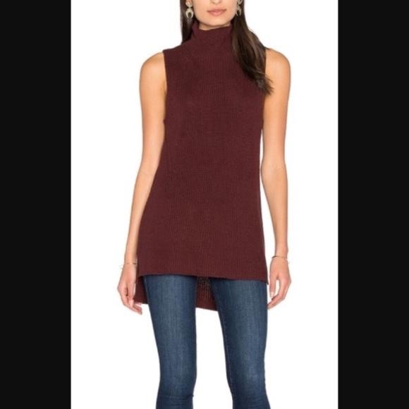 43e9784903477 525 America Sweaters - 525 America gray sleeveless mock turtleneck